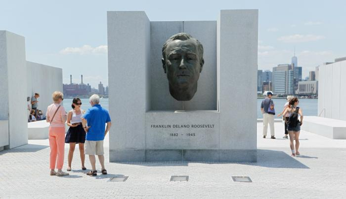 Franklin D. Roosevelt Four Freedoms Park on Roosevelt Island in Manhattan