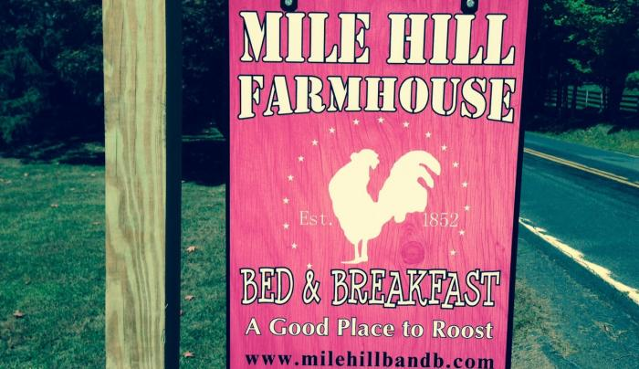 Mile Hill B&B sign