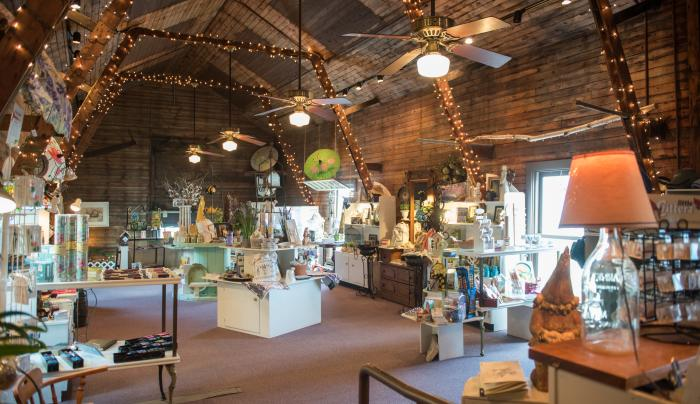 Interior of the gift shop at Sonnenberg Mansion in Canandaigua