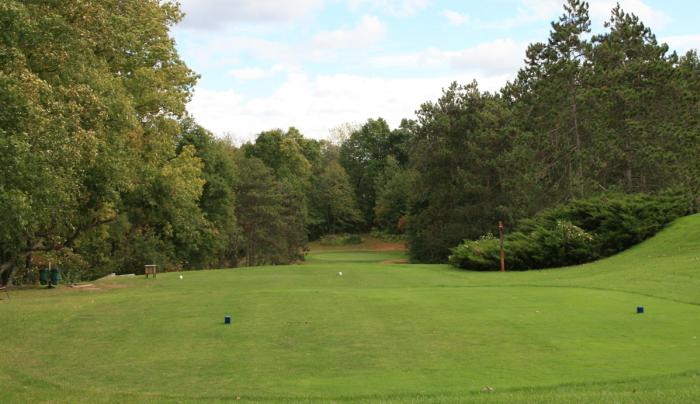 Scenic view of Winged Pheasant Golf Links in Shortsville