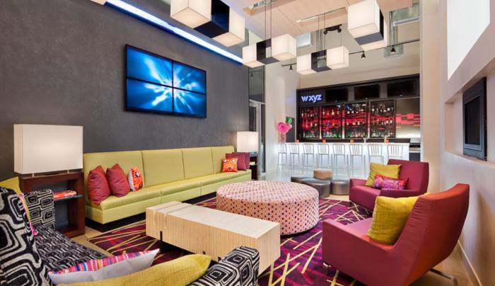 wxyz bar inside the Aloft Manhattan Downtown–Financial District