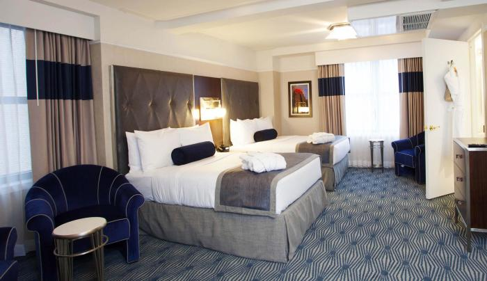 Double double guest room at Wyndham New Yorker Hotel