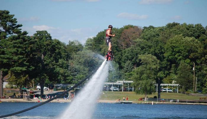 Flyboarding with Jet High Watersports at Greenwood Lake, NY.