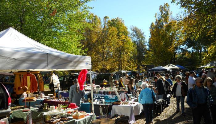 Beautiful Shopping Day at  Mower's Saturday Sunday Fleamarket