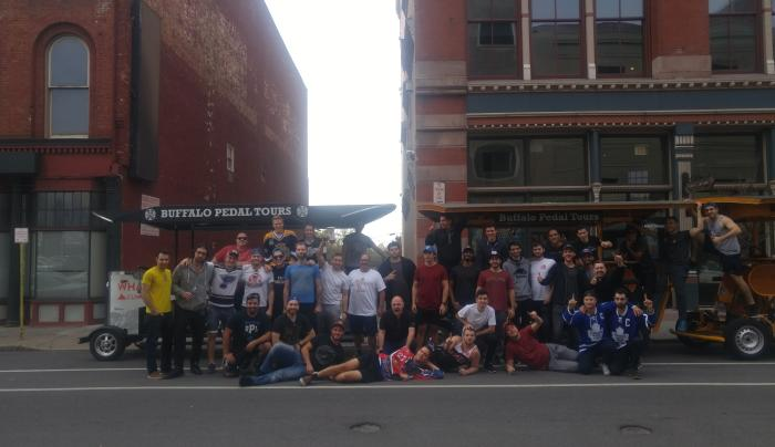 Buffalo Pedal Tours has six bikes and does pub crawls for large groups(even for Leaf fans!)
