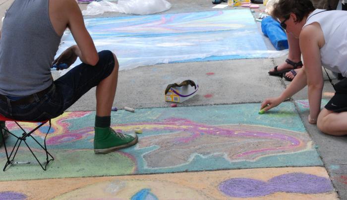 Arts Ctr street painting.JPG