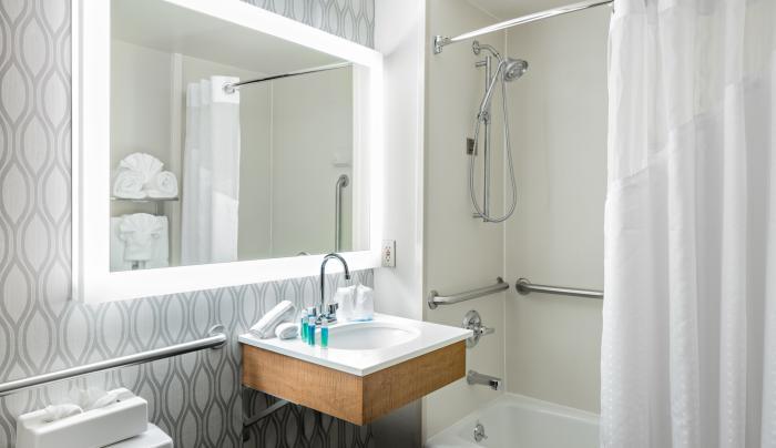 Handicap Accessible Bathroom with Tub
