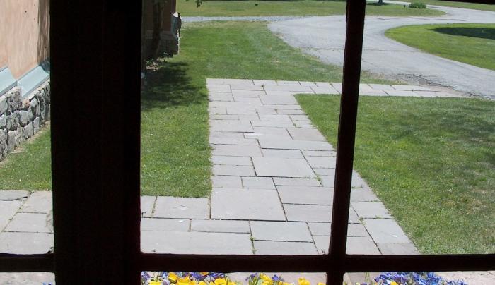 Graycliff View thru Kitchen Window Summer