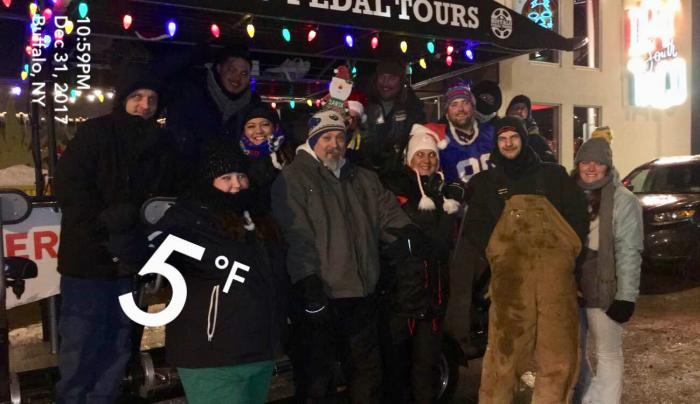 We hold the World Record for the coldest tour, FIVE degrees!!!