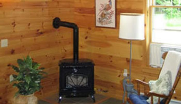 Cabin interior at High Country Acres