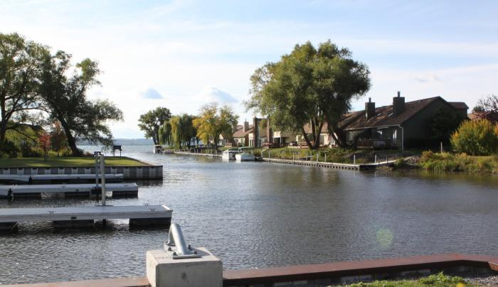 The boat channel at Canandaigua Lake Marine Park