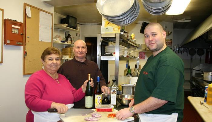 Staff in the kitchen at Casa de Pasta