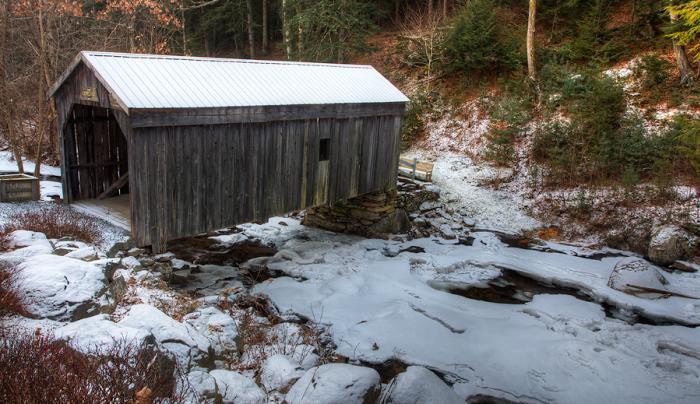 Copeland Covered Bridge winter