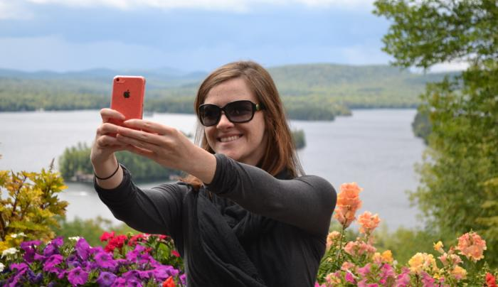 Selfie on the Lake View Deck