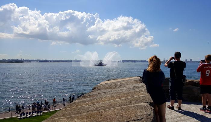 FDNY Fireboat in New York Harbor
