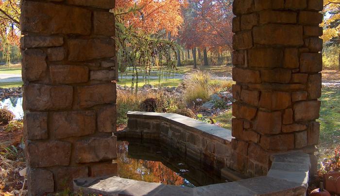 Graycliff Fountain Autumn