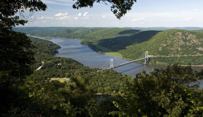 Bear Mountain Bridge from park