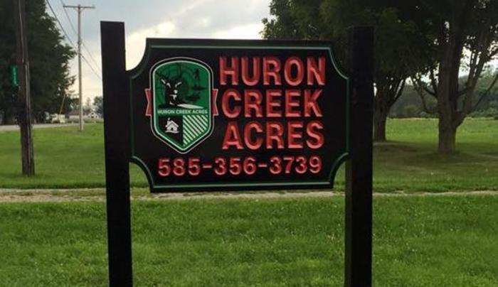 Huron Creek sign
