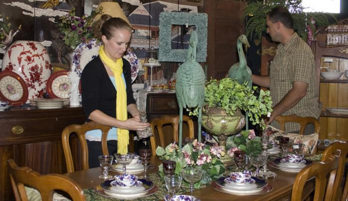 Antique Revival offers the chance to browse through beautifully-staged signature rooms
