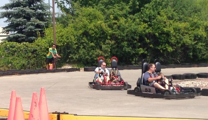 Go karts at Club House Fun Center in Rochester, NY