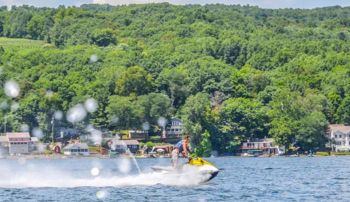 jet ski on lake