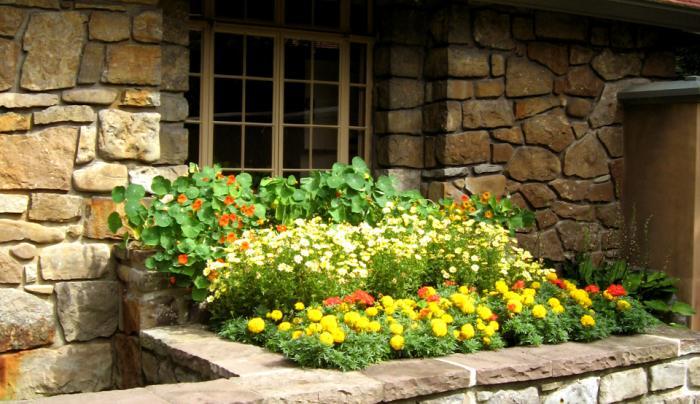 Graycliff Kitchen Flower Boxes
