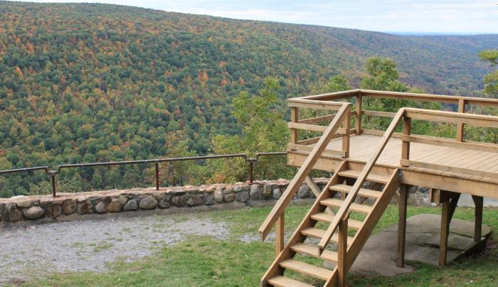 Overlook deck at the summit of Ontario County Park