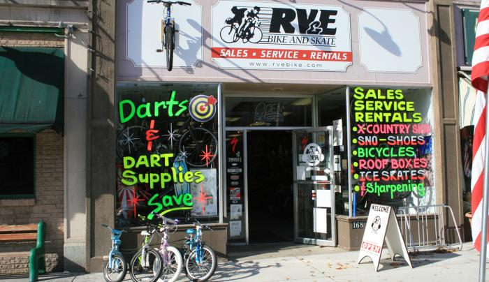 RV&E Bike and Skate Store Front