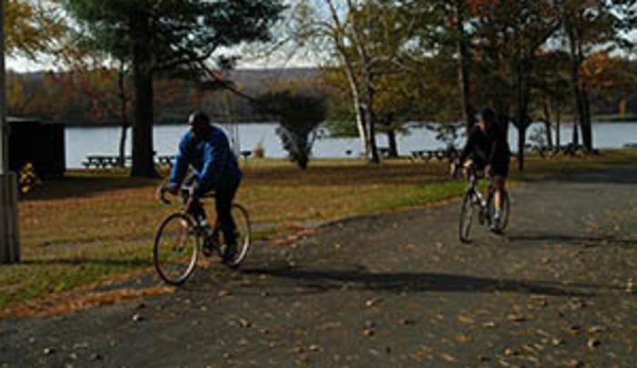 Rudd Pond - biking