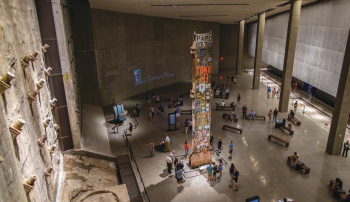 911 memorial museum wall - Photo Courtesy of 911 Memorial and Museum