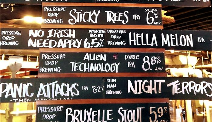 Pressure Drop Brewing craft beer selections