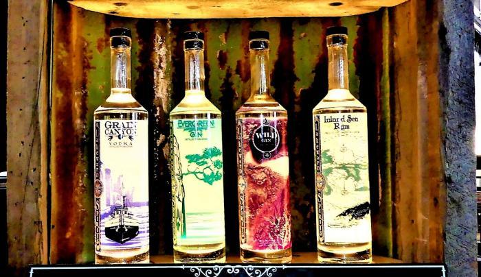 Bottles from Lakeward Spirits