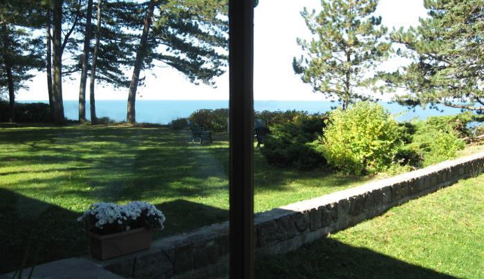 Graycliff View Through Open Door to Terrace