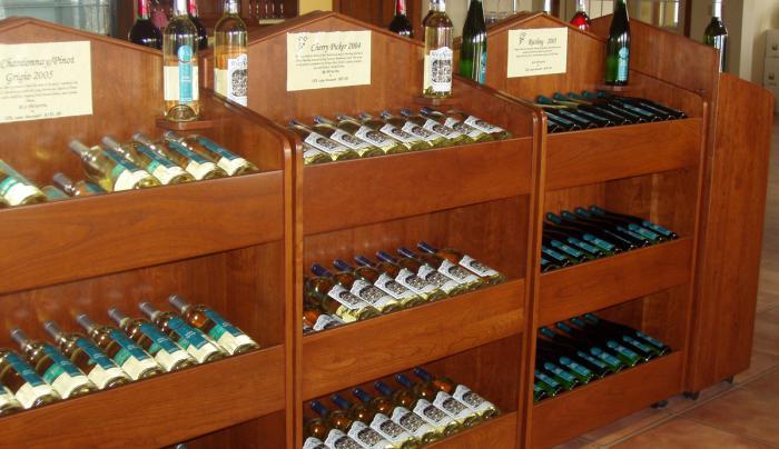White-Springs-Winery-Geneva-wine-racks-tasting-room