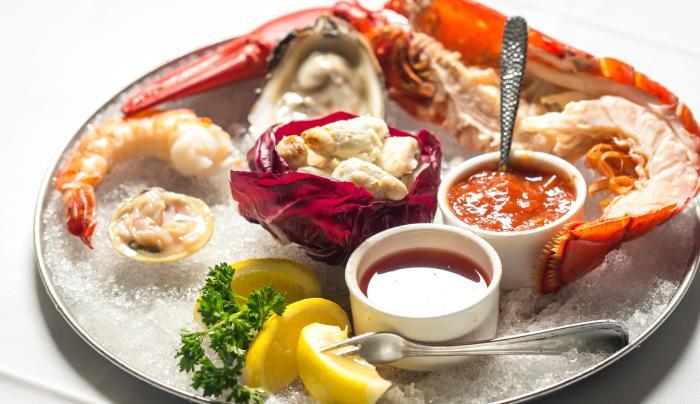 seafood platter at Benjamin Steakhouse