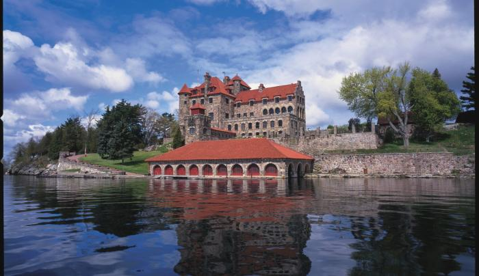 Singer Castle, from the water