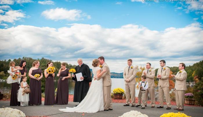 Wedding Ceremony on Front Patio