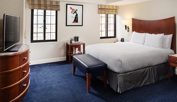 king bedroom at Hilton Manhattan East