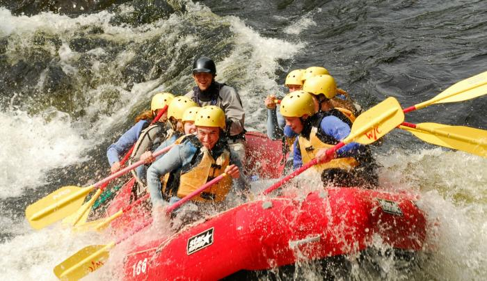 Spring Rafting on the Hudson River