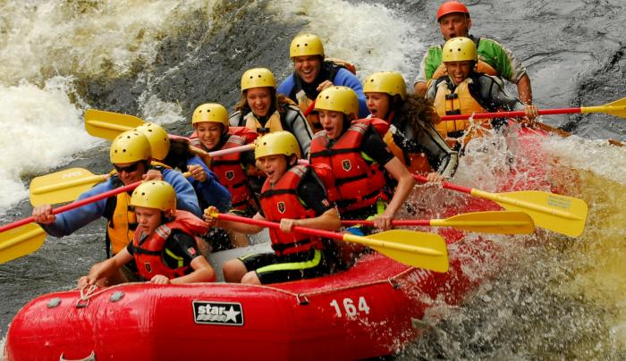 Scout Rafting on the Hudson River