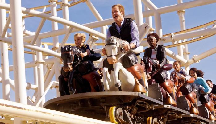 rollercoaster at Luna Park in Coney Island Brooklyn