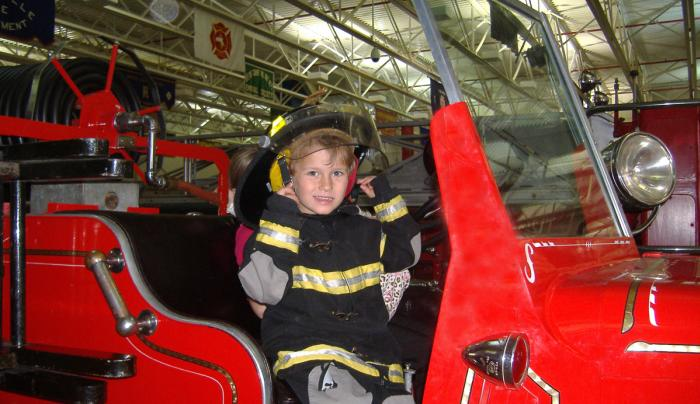 FASNY kid on truck