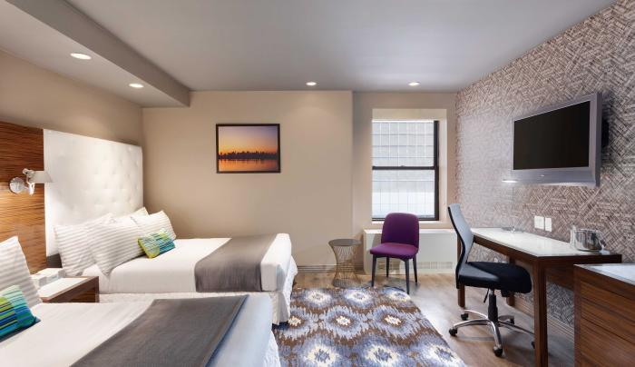 double guest room at Tryp New York Times Square Hotel