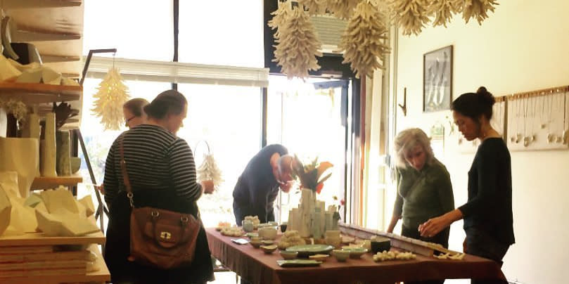 Customers Shopping at Open Studios