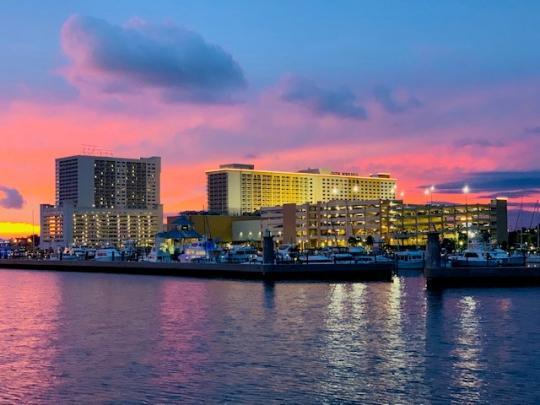 Coastal Mississippi Casino Sunset