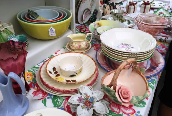 Plates, bowls, cups and more at the Slidell Antique Spring Street Fair