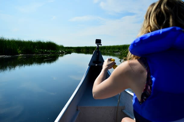 Canoeing at Point Pelee