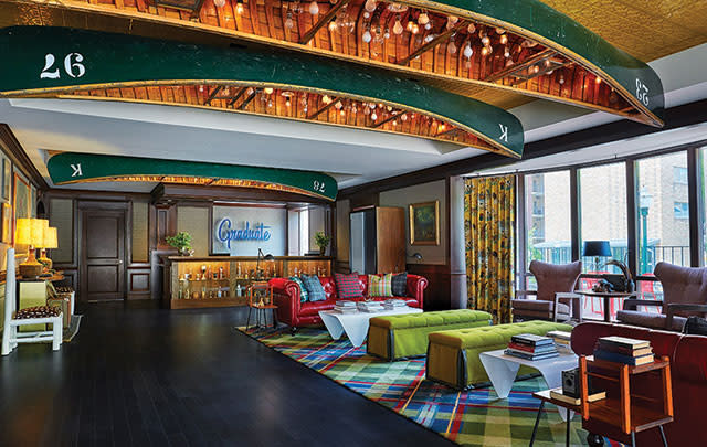The lobby of the Graduate Hotel in Madison