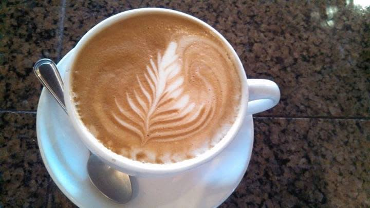 Latte at Carpe Diem in Lafayette, LA