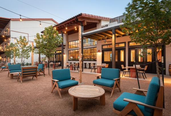Outdoor Seating At Texican Court In Irving, TX